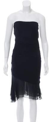 Yigal Azrouel Strapless Silk Accent Dress