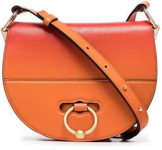 J.W.Anderson orange Latch goatskin cross-body bag