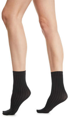 Wolford Muriel Pinstriped Ankle Socks