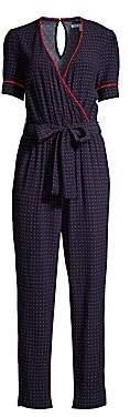 Draper James Women's Faux Wrap Printed Jumpsuit