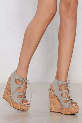 Nasty Gal Cut Ties Lace-Up Wedge