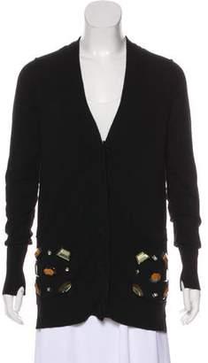 Zhor & Nema Embellished Knit Cardigan