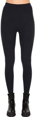 Sportmax Ribbed Knit Stretch Jersey Leggings