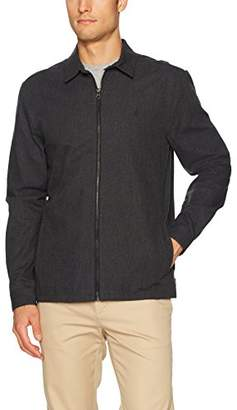 Volcom Men's Dweller Front Zip up Long Sleeve Shirt