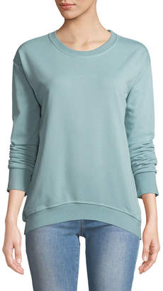 Lumie Ruffled Ladder-Lace Back Sweatshirt, Green