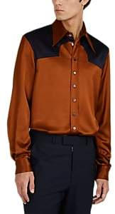 Maison Margiela Men's Satin Western Shirt - Navy