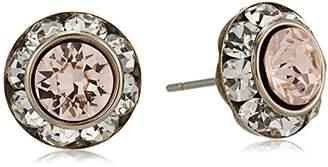 Sorrelli Womens Snow Bunny Swarovski Crystal Stud Earrings