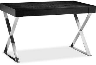 One Kings Lane Alba X-Leg Desk - Black