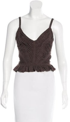 Jean Paul Gaultier Virgin Wool Sleeveless Top $125 thestylecure.com