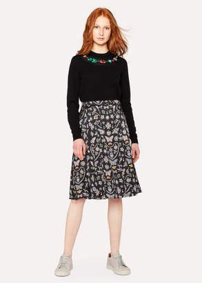 Paul Smith Women's 'Jewels' Print Pleated Skirt
