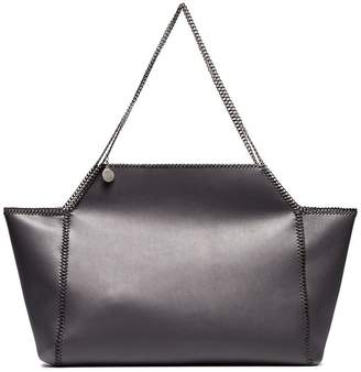 Stella McCartney grey Falabella Fine Chain medium faux leather tote bag