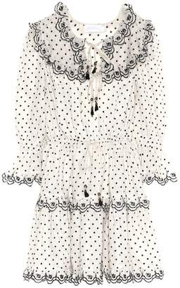 Zimmermann Jaya embroidered linen minidress