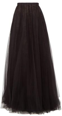 Rochas Pormilia Layered Tulle Maxi Skirt - Womens - Black