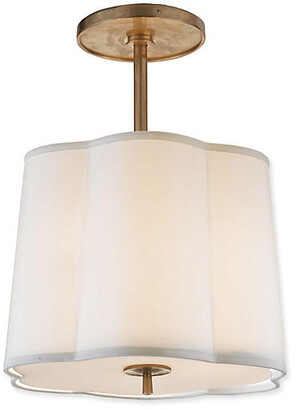 Visual Comfort & Co. Simple Scallop Pendant - Brass