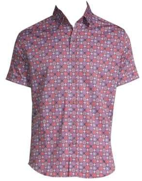 Robert Graham Boman Short-Sleeve Button-Down Shirt