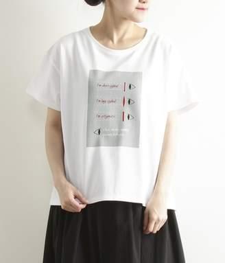 Adieu Tristesse (アデュー トリステス) - hesoさんイラストTシャツ(B・レッド)