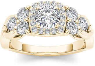 MODERN BRIDE 1 1/2 CT. T.W. Diamond 14K Yellow Gold Engagement Ring