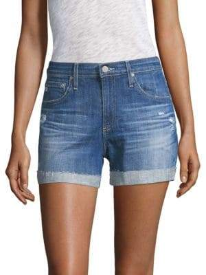 AG Jeans Hailey Ex-Boyfriend Roll-Up Jean Shorts