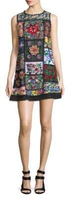Alice + Olivia Marcelina Embroidered Tunic Dress