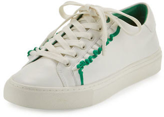 Tory Burch Ruffle Leather Low-Top Sneaker $225 thestylecure.com