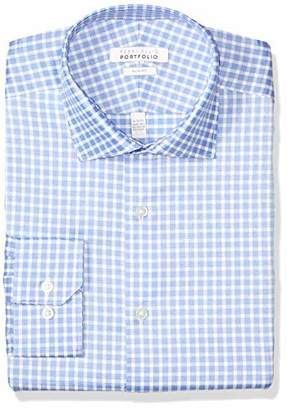 Perry Ellis Men's Non-Iron Tech Slim Fit Comfort Collar Solid Dress Shirt