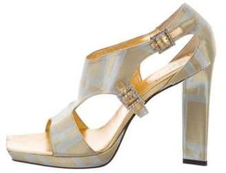 Roger Vivier Metallic Cutout Sandals w/ Tags