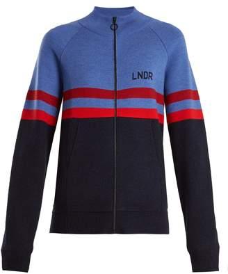 LNDR Aspen zip-through striped wool sweater
