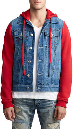 True Religion MENS FLEECE DENIM JACKET