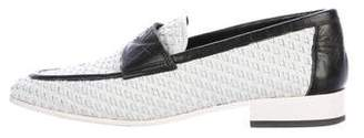 Chanel Woven Leather CC Loafers