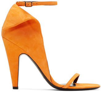 Calvin Klein Orange Suede Carmin Sandals