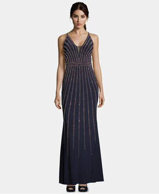 Xscape Evenings Beaded V-Neck Gown