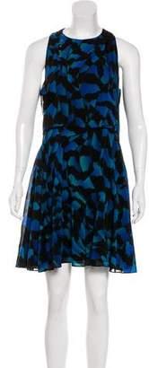 Proenza Schouler Printed Silk Sleeveless Mini Dress