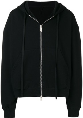 Unravel Project oversized logo hem hoodie