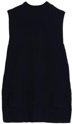 Amanda Wakeley Asymmetric Ribbed Merino Wool Sweater