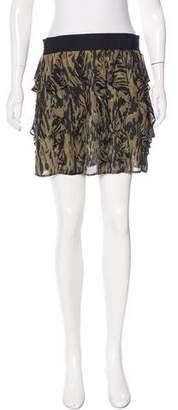 Nili Lotan Silk Mini Skirt
