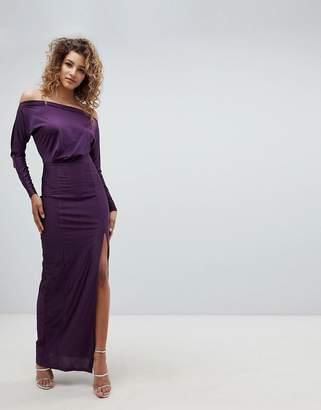 AX Paris Long Sleeve Maxi Dress With Side Split