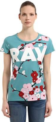 Sakura Printed Cotton T-Shirt