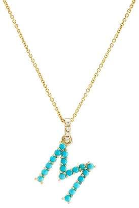 """Jennifer Meyer Women's """"M"""" Pendant Necklace"""