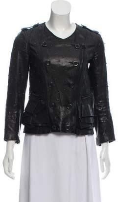 3.1 Phillip Lim Leather Embellished Biker Jacket