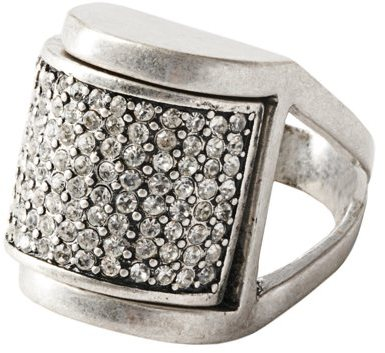 Rectangle Pave Ring