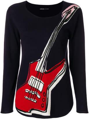 Marc Cain guitar print jumper