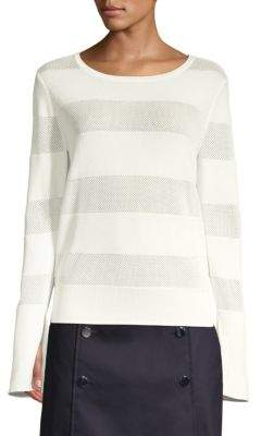 BOSS Frangy Mesh Stripe Sweater