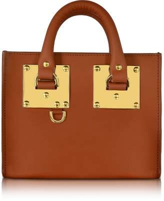 Sophie Hulme Tan Saddle Leather Albion Box Tote Bag