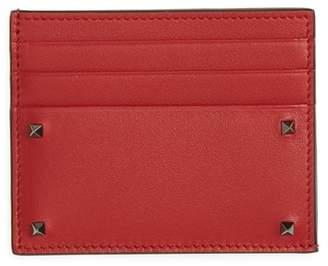Valentino Mini Rock Stud Leather Card Case