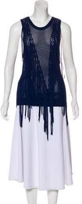 Ronny Kobo Knit Sleeveless Top