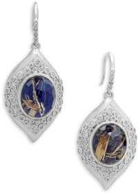 Armenta New World Doublet & Champagne Diamond Marquis Drop Earrings