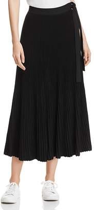Max Mara Nias Pleated Side-Tie Midi Skirt