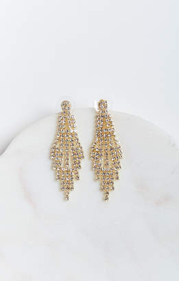 Show Me Your Mumu Glitz Chandelier Earrings ~ Gold