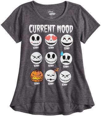 Girls 7-16 Jack Skellington Current Mood Graphic Tee