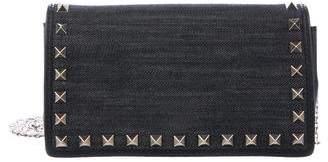 Valentino Rockstud Denim Crossbody Bag